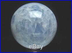 2951g Rare 5A Blue Sky Earth Natural Calcite Crystal Sphere Ball healing BL1791