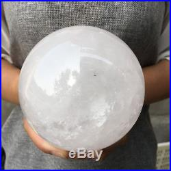 3.12LB Natural clear crystal sphere quartz crystal ball healing 100mm APQ893