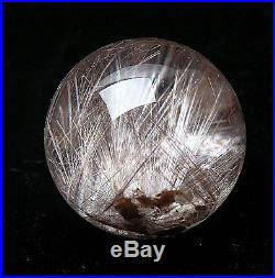 36.5mm AA++ Natural Clear white Rutilated Quartz SPHERE BALL Crystal Specimen