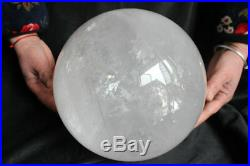 39.2LB 233mm 9.2 Huge Natural Clear Quartz Crystal Sphere Ball Polished Healing