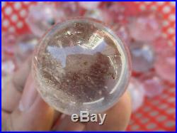 3kg 43pcs Natural Ghost Rutilated Quartz Crystal Sphere Ball Healing 406