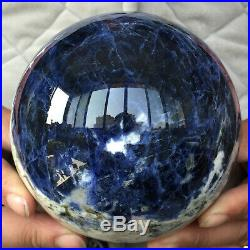 4.2in Dark Blue Sodalite Natural Crystal Quartz Sphere Ball Healing Mineral