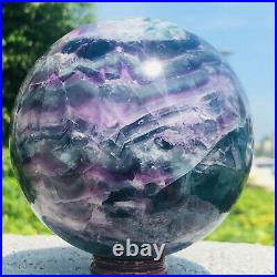 4.56LB Natural colorful fluorite quartz crystal ball sphere healing