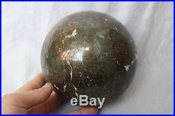 4287g NATURAL Pure Ball-shape Golden yellow Pyrite CRYSTAL sphere ball Z13