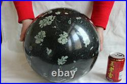 42KG (92.7LB) 11.7 Large Natural Plum Blossom Jade Crystal Sphere Ball Healing