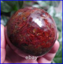 442g Stunning Natural Polished Red Pietersite stone mineral Sphere Ball W12#