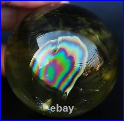 46mm BEST COLOR! NATURAL CLEAR CITRINE QUARTZ CRYSTAL SPHERE BALL HEALING+RAINBOW