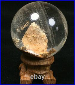46mm Natural Rainbow Stone in Stone Clear Quartz Crystal Sphere Ball Healing