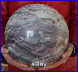 47.8LB Large Natural Red Tourmaline Quartz Crystal Sphere Ball Polished Healing