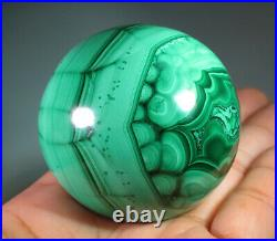 47mm (1.8) Natural Solid Geode MALACHITE CRYSTAL Gemstone Sphere Ball 2802