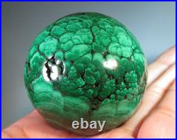 47mm (1.8) Natural Solid Geode MALACHITE CRYSTAL Gemstone Sphere Ball 8339