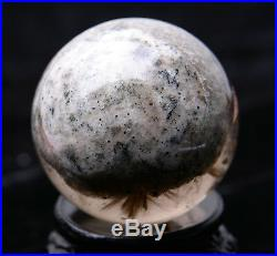 49mm Natural Rutilated And Stone In Stone Crystal Ball SPHERE Quartz Specimen