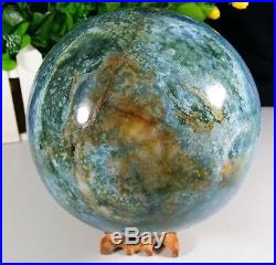 5.4in NATURAL Pretty Ocean Jasper QUARTZ CRYSTAL SPHERE ball healing QD604