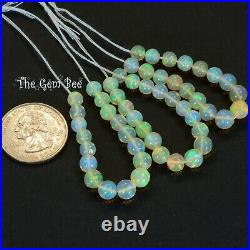 5.5mm-6.5mm Fine Ethiopian Crystal Opal Round Sphere Ball Beads 3.9 Strand