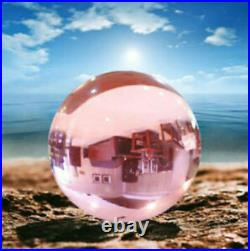 50-120mm Natural Pink Obsidian Sphere Large Crystal Ball Healing Stone