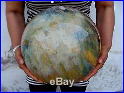 52.86lb HUGE pretty SMELT yellow crystal sphere ball