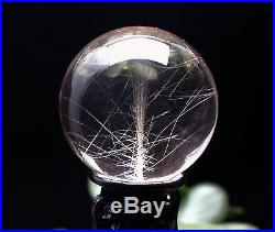 52mm Natural Gold Rutilated Quarte Crystal SPHERE Crystal Lucky Ball Specimen