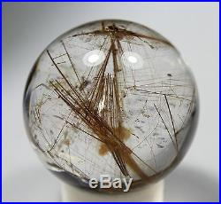 58mm Natural Gold Rutilated Quarte Crystal SPHERE Crystal LUCKY Ball Specimen