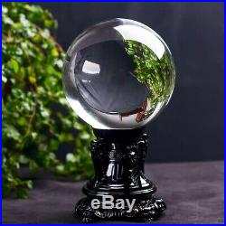 5ABest Natural Clear White Quartz Crystal Sphere Ball Energy Reiki Healing+Stand