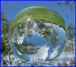 6(150mm) Feng Shui Clear Crystal Ball Sphere with Stand for Collection or a Gift