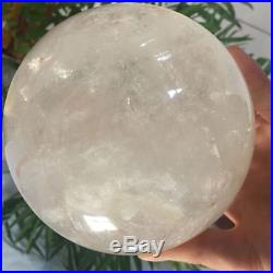 6.2lb 5in Clear Quartz Sphere Natural Reiki Multi-inclusions Crystal Ball