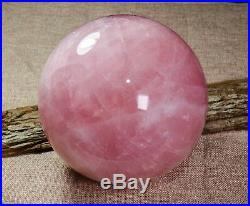 6.3 EXTRA LARGE Pink Rose Crystal Quartz Sphere, Ball, Orb, Healing Crystal