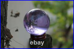 60-120mm Natural Purple Sphere Large Crystal Ball Healing Stone