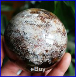 608g NATURAL YELLOW&WHITE PHANTOM MULTI-INCLUSIONS CRYSTAL SPHERE BALL -BRAZIL