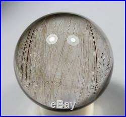 60mm Natural Gold Rutilated Quarte Crystal SPHERE Crystal LUCKY Ball Specimen