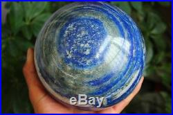 6100g AAA++++ NATURAL preety Lapis Lazuli crystal SPHERE BALL HEALING+STAND