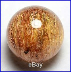 61mm Natural Gold Quarte Rutilated Crystal SPHERE Crystal Lucky Ball Specimen