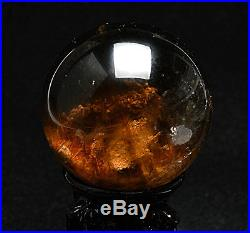 62mm Natural Clear Hair Rutilated Crystal Ball SPHERE Quartz Specimen