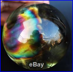 64mm BEST COLOR! NATURAL CLEAR CITRINE QUARTZ CRYSTAL SPHERE BALL HEALING+RAINBOW