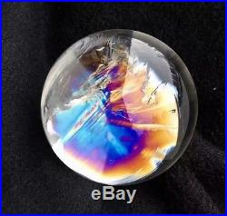 64mm Natural Polished Rainbow Clear Sphere Ball Quartz Crystal withStand