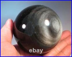 67mm(2.65) Natural Silver Sheen Obsidian Sphere Crystal Ball from Mexico 9233
