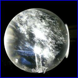 69g Clear Blue Angel's Feather Sphere Natural Stone In Stone Rainbow Quartz Ball