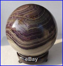 7020g Pretty Natural Polished Colorful Fluorite crystal sphere ball 1#