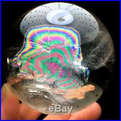 71mm Rainbow NATURAL CLEAR QUARTZ CRYSTAL SPHERE BALL HEALING GEMSTON+stand