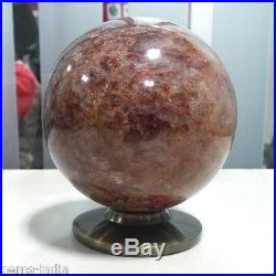 7295 Cts Natural Untreated Brown Agate Sphere Ball Crystal Healing Mineral 98mm