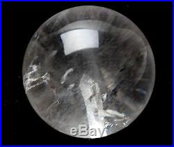 72MM Natural CLEAR Quartz Stone in Stone SPHERE BALL Crystal Specimen