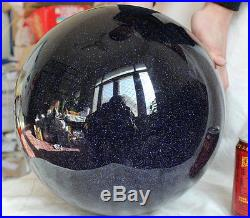 78.5LB 295mm Large Blue Goldstone Flashes Crystal Sphere Ball Polished Healing