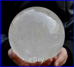 7805g Large NATURAL transparent QUARTZ CRYSTAL SPHERE BALL Healing