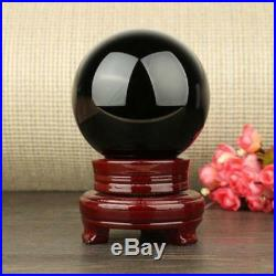 80-150MM+stand Natural Black Obsidian Sphere Large Crystal Ball Healing Stone