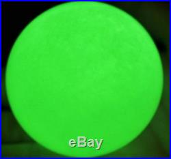 80mm stand Glow In The Dark Stone crystal Fluorite sphere ball Iceland SPAR
