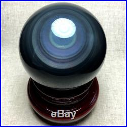 82mm NATURAL Unique rainbow OBSIDIAN POLISHED SPHERE BALL Distinctive+stand