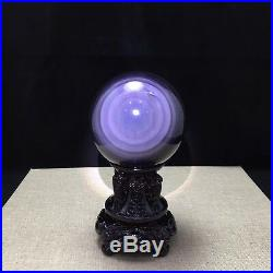 82mm Rainbow! Natural Unique Cats Eye Obsidian Quartz Crystal Sphere Ball Rare