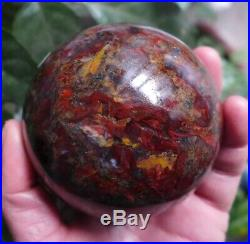 847g Stunning Natural Polished Red Pietersite stone mineral Sphere Ball W15#