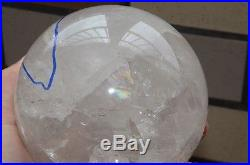 96mm(3.78) Clear Crystal Ball Quartz Sphere With One Moving ENHYDRO Bubble