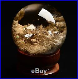 AA++Natural Clear Phantom Crystal SPHERE Stone in Stone Ball Specimen 00