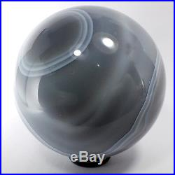 Agate and Amethyst Crystal Sphere (EA7219) ball scrying gem stone reiki healing
